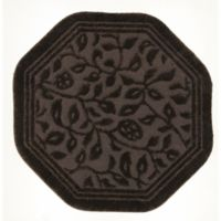 Mohawk Home Wellington 4-Foot x 4-Foot Octagonal Bath Rug in Chocolate