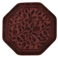 Mohawk Home Wellington 4-Foot x 4-Foot Octagonal Bath Rug in Red