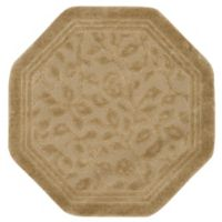 Mohawk Home Wellington 4-Foot x 4-Foot Octagonal Bath Rug in Sand