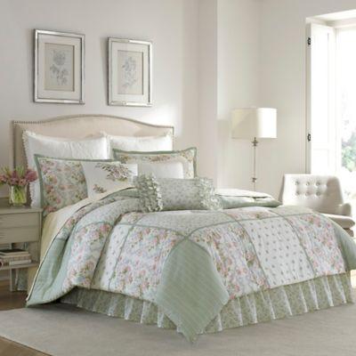 laura ashley harper king comforter set in green