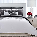 Vince Camuto® Lyon Full/Queen Comforter Set in Grey/White