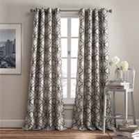 Rutherford 95-Inch Grommet Top Window Curtain Panel in Grey