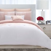 Vince Camuto® Lyon Full/Queen Comforter Set in Blush/White