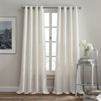 Rutherford 95-Inch Grommet Top Window Curtain Panel in White