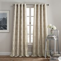Rutherford 95-Inch Grommet Top Window Curtain Panel in Taupe