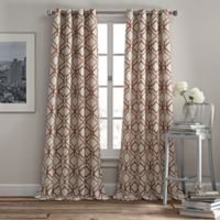 Rutherford 63-Inch Grommet Top Window Curtain Panel in Spice