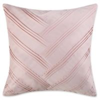 Vince Camuto® Lyon V-Pleated Square Throw Pillow in Blush