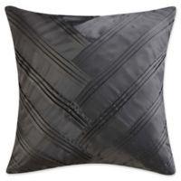 Vince Camuto® Lyon V-Pleated Square Throw Pillow in Grey