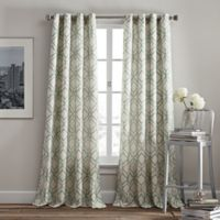 Rutherford 95-Inch Grommet Top Window Curtain Panel in Aqua