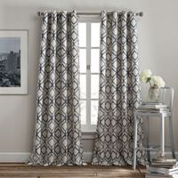 Rutherford 84-Inch Grommet Top Window Curtain Panel in Navy