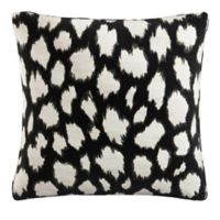 Skyline Square Throw Pillow in Black