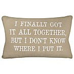 """I've Got it All Together.."" Rectangle Throw Pillow in Linen/White"