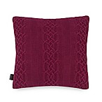 UGG® Aubrey Cable Knit to Sherpa Square Throw Pillow in Garnet