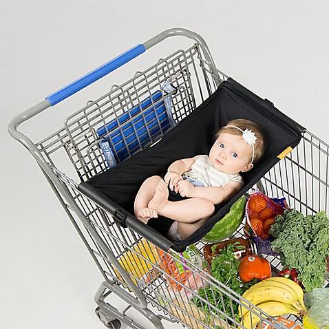 Binxy Baby 174 Baby Shopping Cart Hammock In Black Buybuy Baby