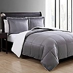 VCNY Home Micro Mink Sherpa 3-Piece Reversible King Comforter Set in Charcoal