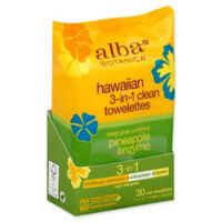 alba BOTANICA® 30-Count Hawaiian 3-in-1 Deep Pore Purifying Pineapple Enzyme Towelettes