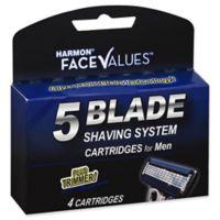 Harmon® Face Values® 4-Count 5-Blade Shaving System Cartridges plus Trimmer for Men