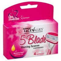 Harmon® Face Values® 4-Count 5-Blade Shaving System Cartridges for Women