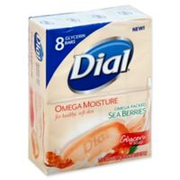 Dial® 8-Count 4 oz. Omega Moisture Glycerin Bar Soap with Sea Berry