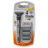Harmon® Face Values® 4-Blade Disposable Razor System for Men