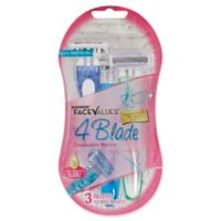 Harmon® Face Values® 3-Count 4-Blade Disposable Razors for Women