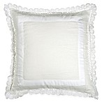 Wamsutta® Vintage Gauze Double Ruffle Square Throw Pillow in Winter White