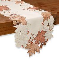 Sam Hedaya Burwell Leaf Cutwork 54-Inch Table Runner in Ivory