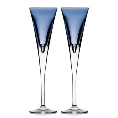 waterford w collection champagne flutes in sky set of 2 - Waterford Champagne Flutes