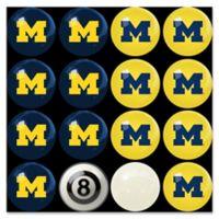 University of Michigan Home vs. Away Billiard Ball Set