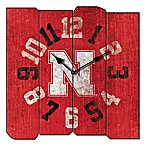 University of Nebraska Vintage Square Wall Clock