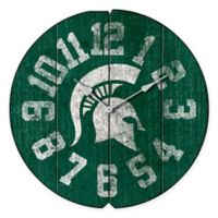 Michigan State University Vintage Round Wall Clock