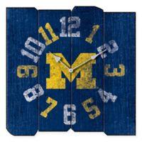 University of Michigan Vintage Square Wall Clock