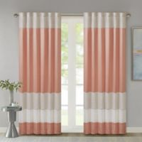 Madison Park Amherst 84-Inch Rod Pocket/Back Tab Window Curtain Panel in Coral