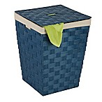 Honey Can Do Woven Paper Hamper in Blue