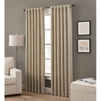 Grayson 108-Inch Rod Pocket/Back Tab Window Curtain Panel in Taupe