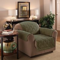 Faux Suede Chair Protector in Sage