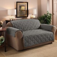 Faux Suede Loveseat Protector in Grey