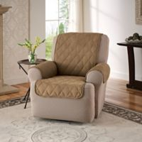 Faux Suede Recliner and Wingback Chair Protector in Camel