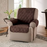 Faux Suede Recliner and Wingback Chair Protector in Chocolate