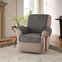 Faux Suede Recliner and Wingback Chair Protector in Grey