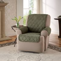 Faux Suede Recliner and Wingback Chair Protector in Sage