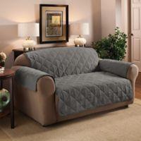 Faux Suede Sofa Protector in Grey