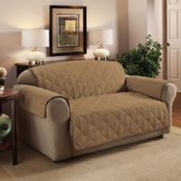 Faux Suede XL Sofa Protector in Camel