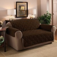 Faux Suede XL Sofa Protector in Chocolate