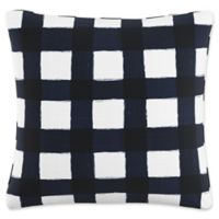 Skyline Furniture Buffalo Square Throw Pillow in Blue