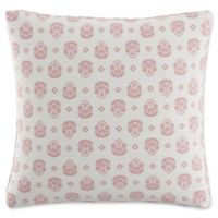 Skyline Furniture Floral Throw Pillow in Dusty Red