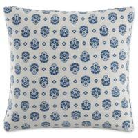 Skyline Furniture Floral Throw Pillow in Indigo