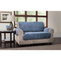 Puff Loveseat Protector in Blue