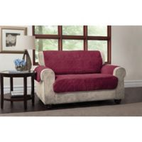 Puff Loveseat Protector in Burgundy