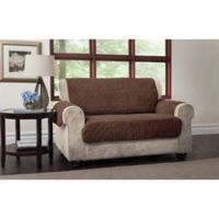 Puff Loveseat Protector in Chocolate